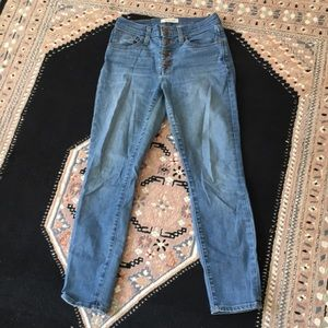 Madewell button fly high waisted skinny jeans 26